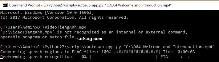 Hướng dẫn tạo phụ đề tiếng việt tự động cho Video bằng phần mềm Autosub 3 Hướng dẫn tạo phụ đề tự động cho Video bằng phần mềm Autosub